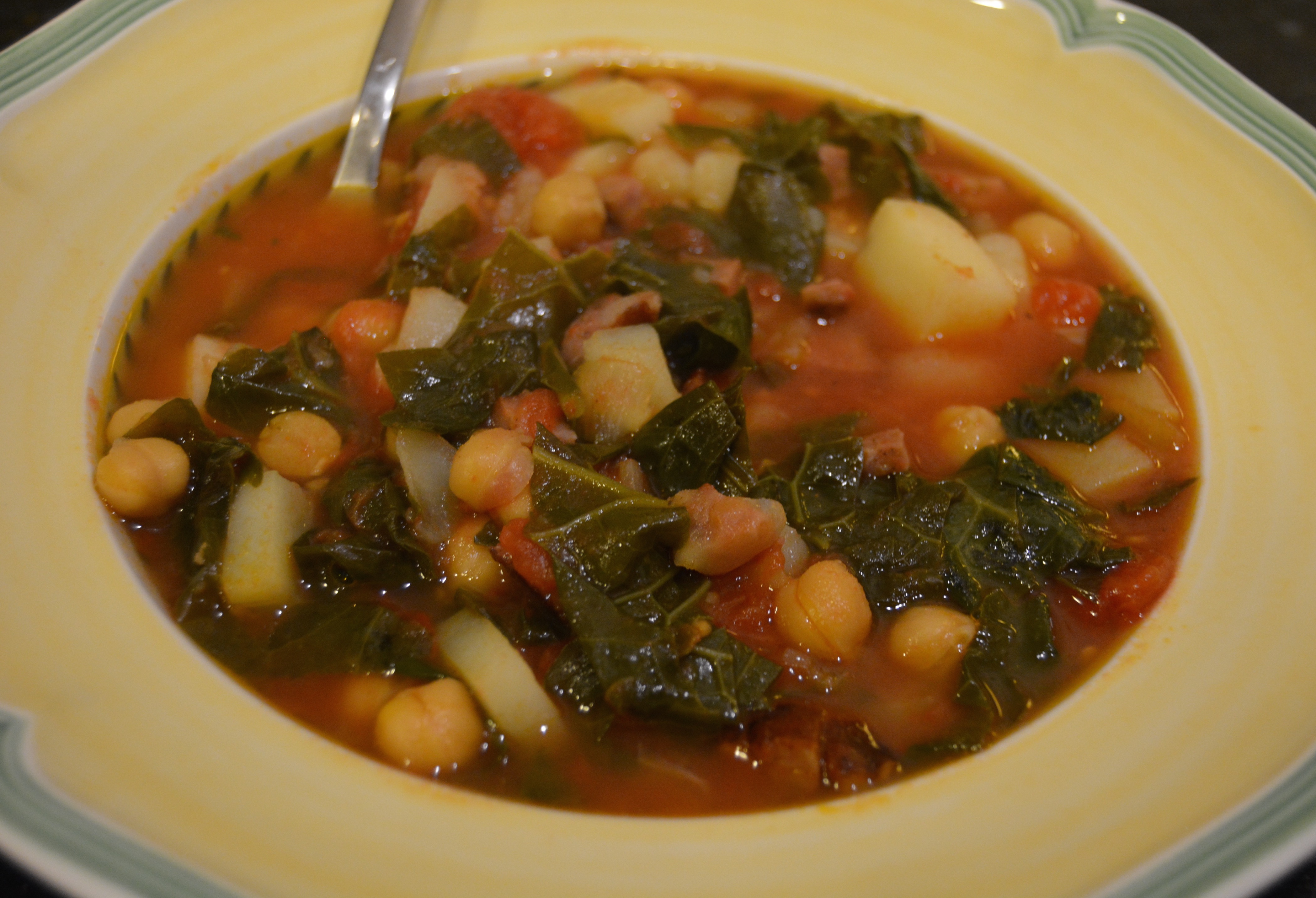 Delvin Farms kale soup