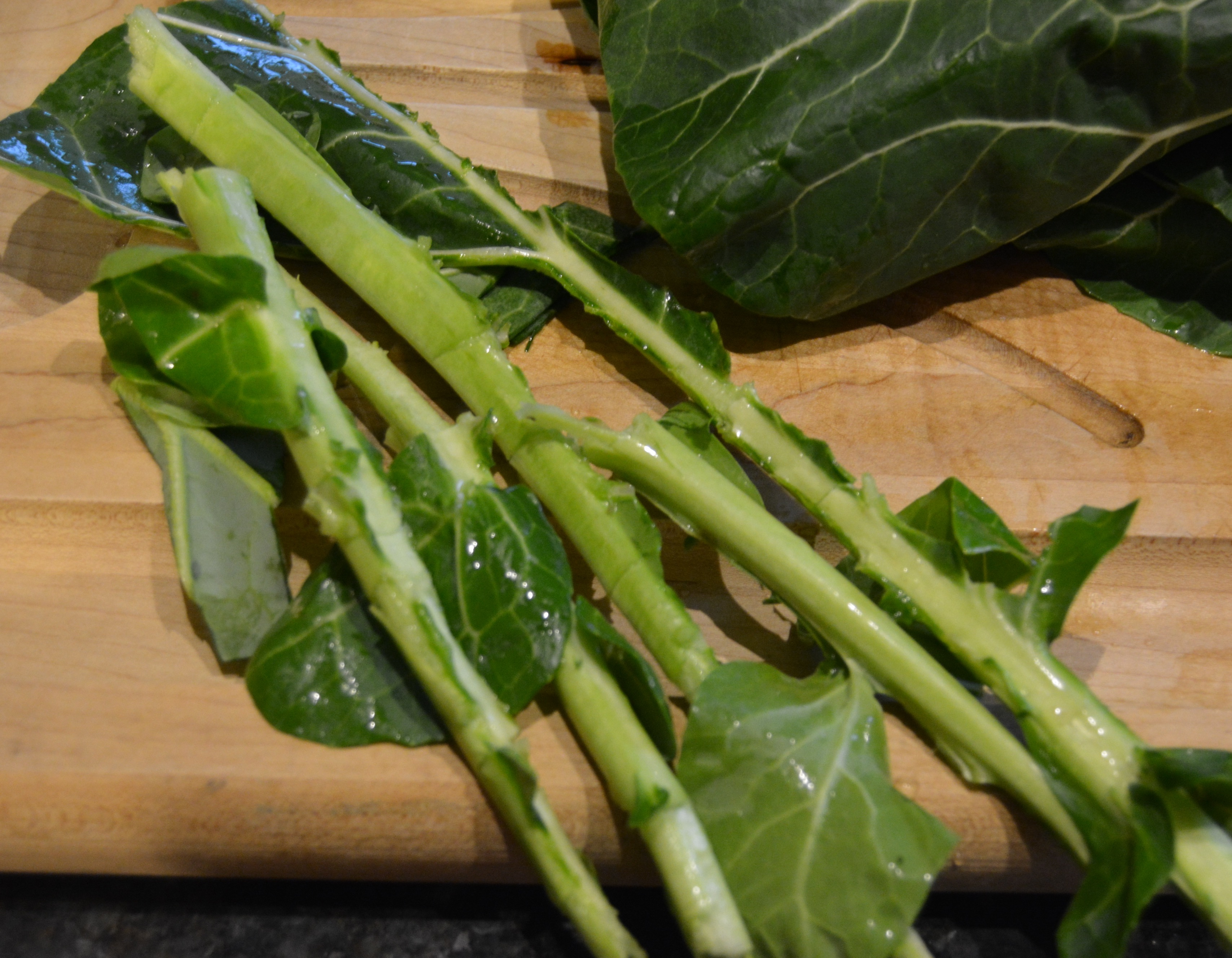 de-stemmed collards